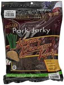 Golden Island Natural Style Pork Jerky, Korean Barbecue Recipe, 14.5oz