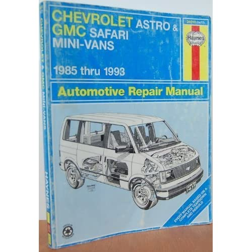 chevrolet gmc vans automotive repair manual