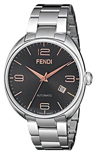 Fendi Fendimatic F201016200 42mm Automatic Silver Steel Bracelet & Case Anti-Reflective Sapphire Men's Watch