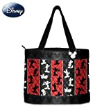 Disney Mickey Mouse Quilted Tote Bag: Mickey Magic by The Bradford Exchange