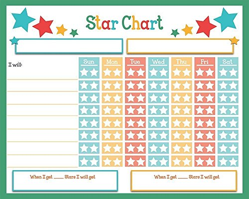 "Children Weekly Rainbow Chore Rewards Chart Dry Erase Sticker ● Classroom and Home Teaching Resource ● Accountable Responsibility & Behavior To Do List Goals ● 16"" X 13"" Decal Adhesive"