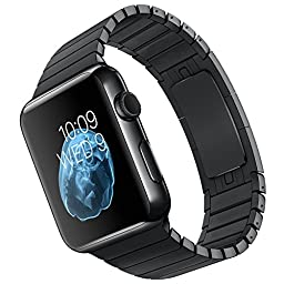 LDFAS Stainless Steel Link Bracelet for Apple Watch, 38mm - Space Black