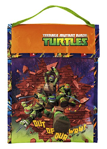 Zak! Designs Insulated Lunch Bag with Velcro Closure featuring Teenage Mutant Ninja Turtles, Reusable and BPA-free