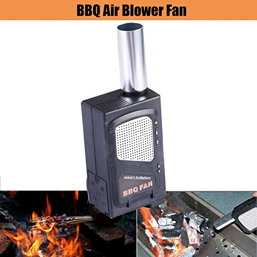 Permium Performance Portable Elctricity BBQ Fan Air Blower for Barbecue Fire Bellows Outdoor Camping (Air Blower Fire compare prices)