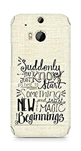 AMEZ start something new and the magic begins Back Cover For HTC One M8