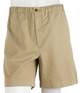 Nautica Men's Drawstring Twill Short, Khaki, Large at