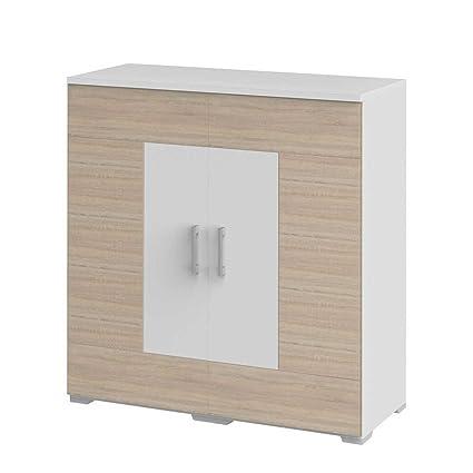 Schlafzimmer Kommode in Weiß Eiche Nachbildung Pharao24