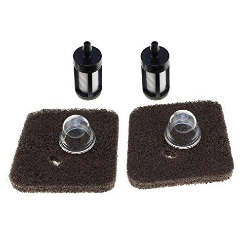HIPA (Pack of 2) Air Filter Fuel Filter Primer Bulb for STIHL FC55 FS38 FS45 FS46 FS55 HS45 KM55 HL45 String Trimmer