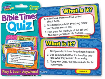 Bible Times Quiz Challenge Cards - 1