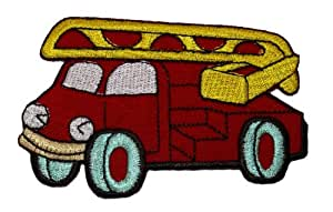 Amazon.com: Cute Red Fire Engine Truck Retro Classic DIY ...