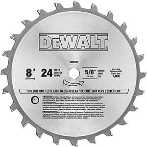 Dewalt Dw7670 8 Inch 24 Tooth Stacked Dado Set Table Saw