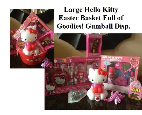 Hello Kitty Gift Basket Girls Bath Beauty Gumball