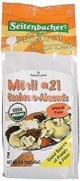 Seitenbacher Organic Musli, #21  Cashews & Almonds, 16 Ounce