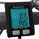 Outdoormaster Wireless Bike Computer, Waterproof Multifunction Cycling Speedometer With Backlit Display (Black) OutdoorMaster
