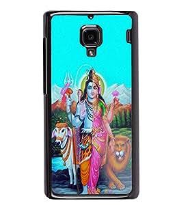 PrintVisa Metal Printed Lord Ardhanareeswara Designer Back Case Cover for Xiaomi Redmi 1S-D4980