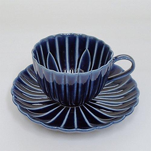 コーヒーカップソーサー 茄子紺 美濃焼 カフェ 食器 業務用