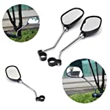 Aelegant 2 Pack Bike Mirror Handlebar End Glass Bicycle Mirrors Rearview Mirror for Mountain Road Bike Motorcycle