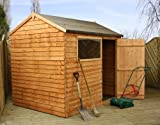 Overlap Reverse Apex Shed with Single Door and Pad Bolt Size: 217 cm H x 176 cm W x 178 cm D