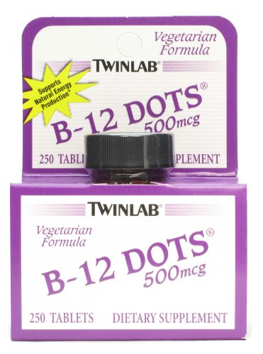 Twinlab B-12 Dots,500 Mcg, 250 Dot, Ea-1
