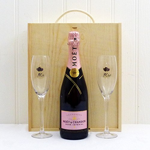 75cl-moet-et-chandon-rose-imperial-champagne-with-mr-mrs-flutes-in-wooden-gift-box-christmas-gift-id