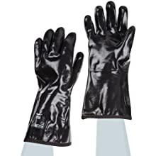Ansell Neox 9-022 Cotton Glove, Chemical Resistant, Neoprene Coating, Gauntlet Cuff, Large (Pack of 12 Pairs)
