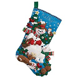 Bucilla Felt Applique Christmas Stocking Kit: Snow Friends