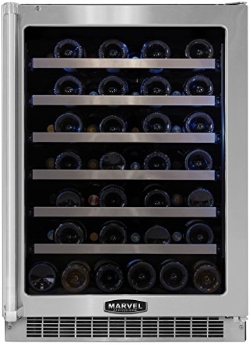 Marvel Mpro6Wcm-Bs-Lr 24-Inch Professional Wine Cellar With Framed Glass Right Hinge Door With Ss front-613780