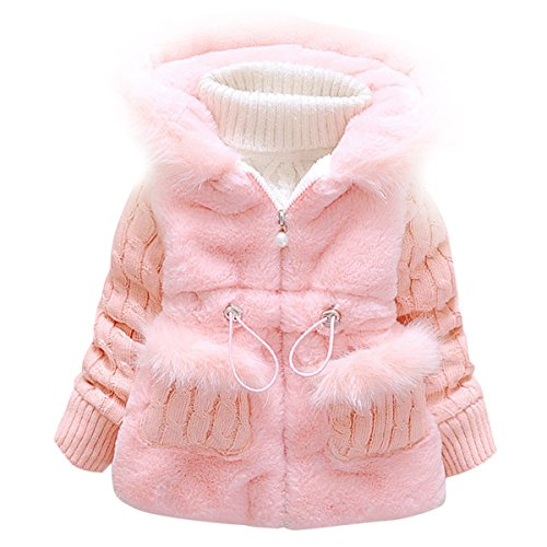 8968889d127e Baby and Little Girl s Toddler Kids Winter Coat Jacket Outwear(6 ...