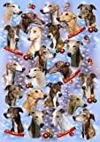 Greyhound Dog Christmas Wrapping Paper Design by Starprint