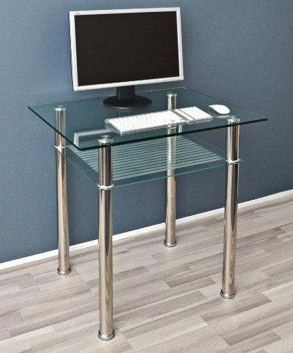 glastisch beistelltisch esstisch computertisch 80 x 60 cm mit 10 mm esg sicherheitsglas com. Black Bedroom Furniture Sets. Home Design Ideas