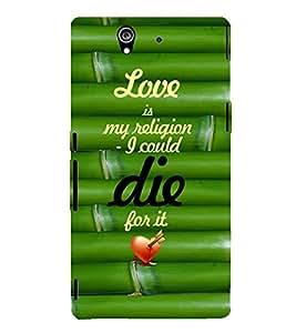 EPICCASE love is my religion Mobile Back Case Cover For Sony Xperia Z (Designer Case)