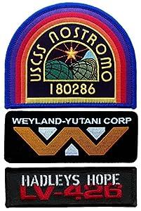 Corp Weyland Nostromo aterrizó USCSS Yutani parche de 3 hadley Alien diseño de gota con película es de coleccionistas