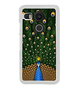Beautiful Peacock 2D Hard Polycarbonate Designer Back Case Cover for LG Nexus 5X :: LG Google Nexus 5X New