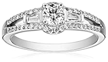 buy Kobelli 3/4 Cttw Round And Baguette Diamond 14K Gold Engagement Ring, Size 6
