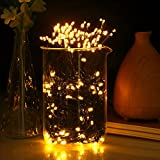 Solar String Lights,GDEALER 72ft 200 LED 8 Modes Warm White Solar Powered Waterproof Starry Fairy Outdoor String Lights Christmas Decoration Lights for Garden Path, Party, Bedroom Decoration (1)