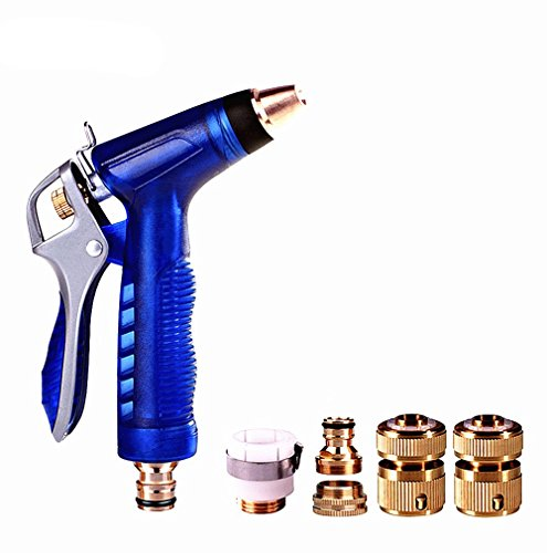 Well-built Upgrade Garden Hose Nozzle, High Pressure, Heavy Duty Metal, Hand Sprayer with Washers and Quick Connectors. Suitable for Car & Pet Washing, Cleaning, Watering Lawn and Garden. (High Pressure Tree Sprayer compare prices)