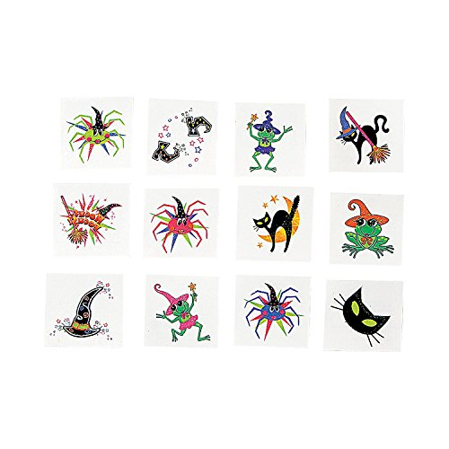 GIRLY HALLOWEEN GLITTER TATTOOS (6 DOZEN) - BULK - 1