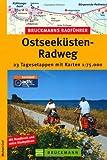 Bruckmanns Radführer Ostseeküsten-Radweg von der Trave bis Usedom: 23 Tagesetappen mit Karten 1:75.000