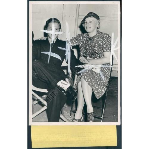 HCF-762-BS Photo of Nellie Carter Yule & Mickey Rooney 1940