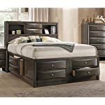 Emily Grey Wood Queen Captains Bed by Crown Mark
