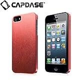CAPDASE 日本正規品 iPhone5 Karapace Jacket Silva Satin, Red (クリスタル・クリアー液晶保護シート、ムービースタンド、プロテクティブ・ポーチ 付属) KPIH5-SA09
