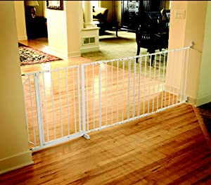 Regalo Maxi Super Wide Walk Thru Gate, White