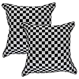 Home Kouture Polyester Set Of 2 Jacquards Squares Cushion Cover; 40.64 X 40.64 CM