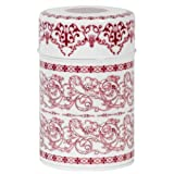 Red Filligree Tea Canister