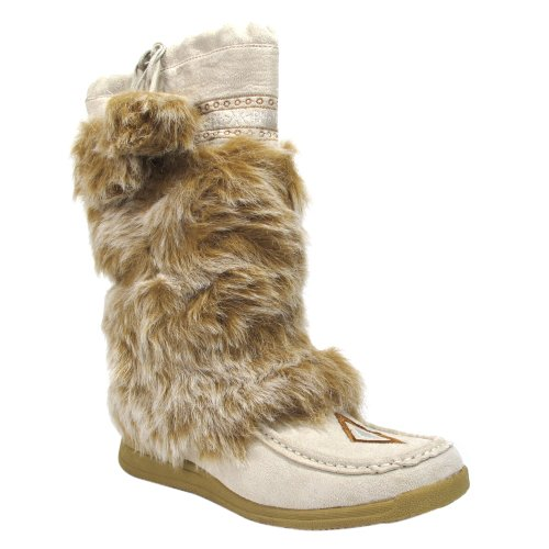 Fiorucci 3658135 Camoscio Beige Furry Boot (39 EU W)
