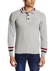 Wrangler Men's Cotton Sweater (8907222259754_WRSW2213_Small_Grey Mel)