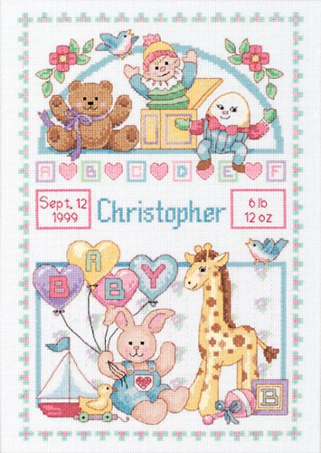 Dimensions Needlecrafts Counted Cross Stitch, Birth Record For Baby