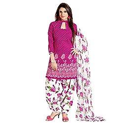 Styles Closet Pink Cotton Dress-material.
