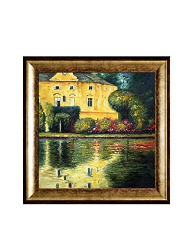 "Gustav Klimt's Schloss Kammer On Attersee Framed Hand Painted Oil Canvas, Multi, 31"" x 31"""