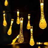 Homeself Solar Outdoor String Lights - 20ft 30 LED Waterproof Lights Christmas Lights Solar Powered String lights for Garden - Patio - Yard - Home - Christmas Tree - Parties (Warm white)